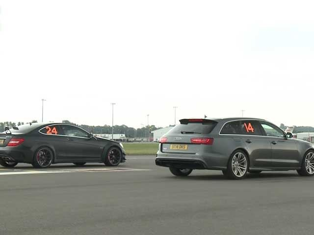 German Super Sedan Shootout: Audi RS6 Vs. Mercedes-Benz C63 AMG Black Series Drag Race