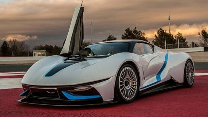 Leaked  Images Show Chinese Electric Supercar