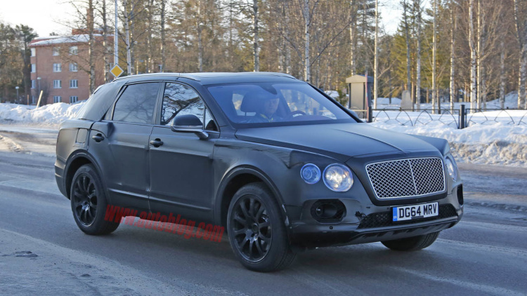 Bentley's Upcoming Bentayga Crossover Sheds More Camo