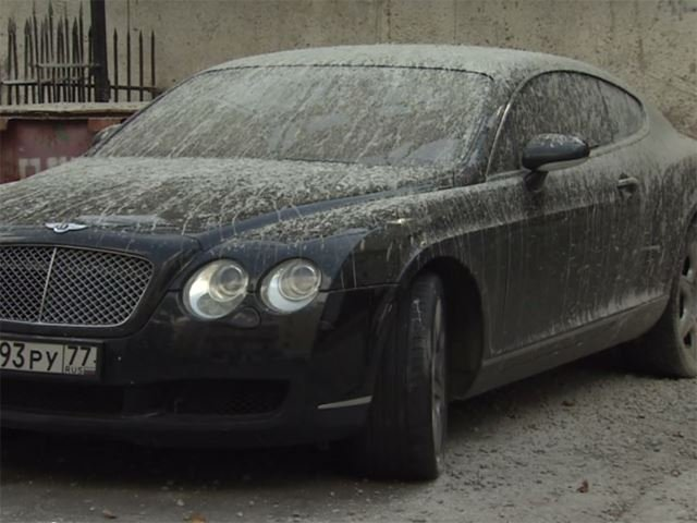 Russian Bentley Continental GT Covered in Cement