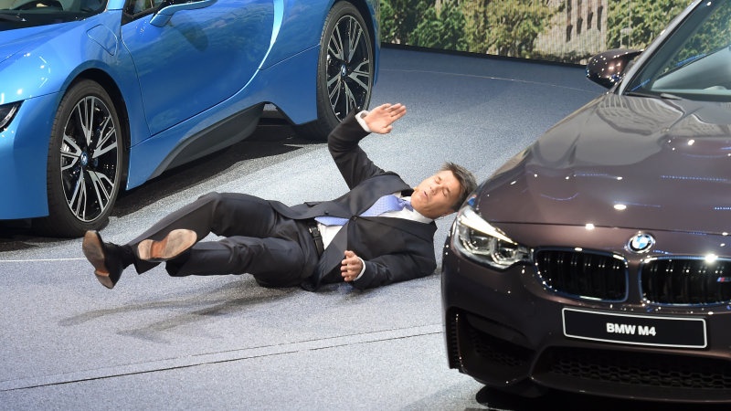 BMW CEO Faints on Stage at Frankfurt Press Conference