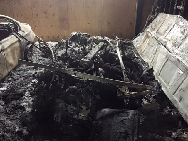 This Is What a BMW i3 Looks Like After Melting Away in a Garage Fire