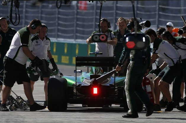 The Caterham F1 Team pit stop