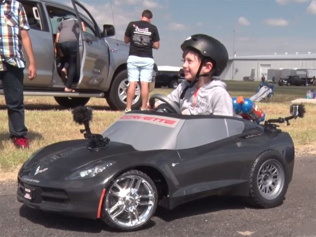 4-Year-Old Has the Coolest Nitrous Boost Power Wheels Corvette Ever