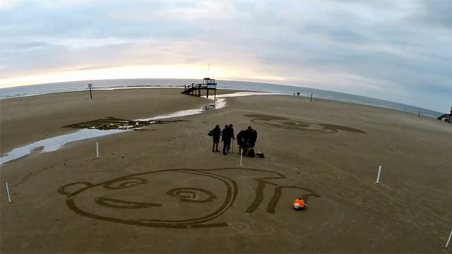 Disney's Beachbot Sand-Sketching Robot is one Bright Buggy