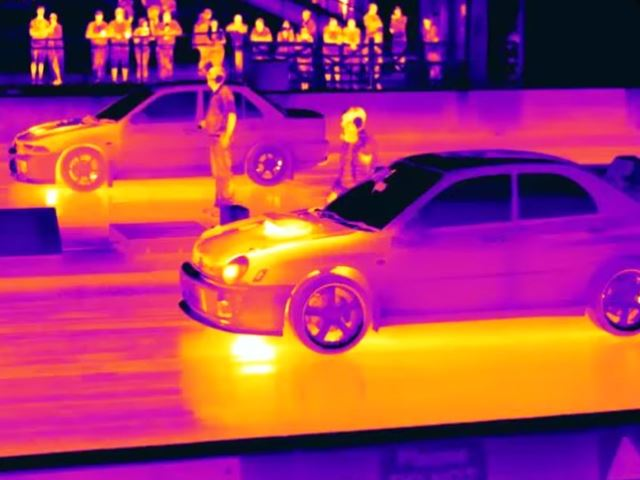 A Thermal Imaging Lens Makes Drag Racing Look Insanely Cool