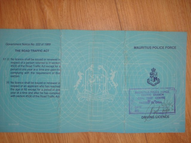 Driving Licence: Revised Criteria (localized)