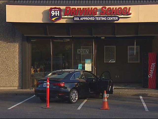 Crashing Into a Driving School Is the Best Way to Fail Your Driving Test