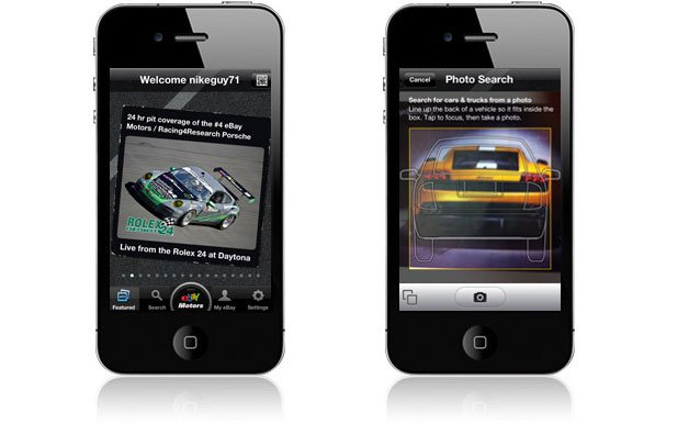 eBay Motors App Adds Search-by-Image Feature
