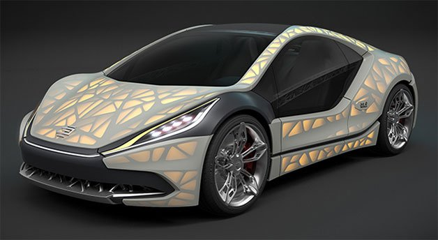Edag Planning this Lightweight Backlit-Fabric Sports Car for Geneva