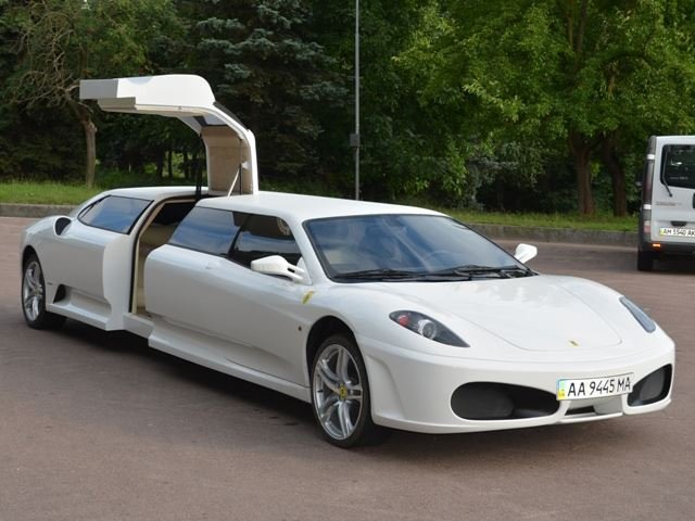 This Fake Ferrari Limo is a Bit Nuts