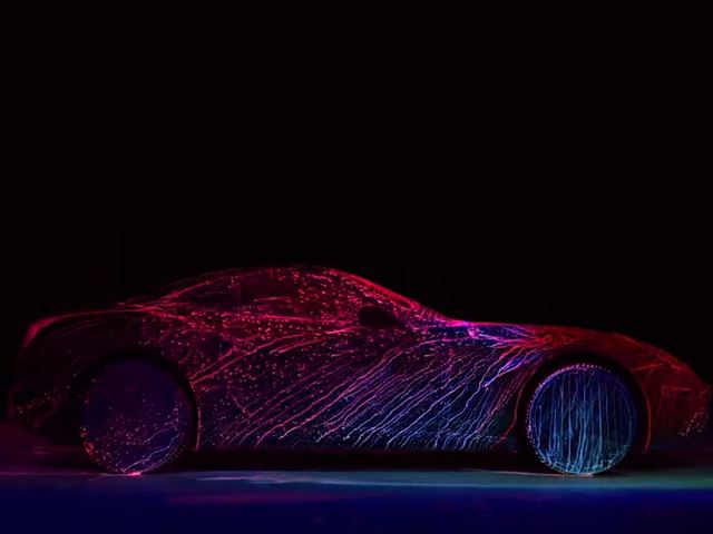 Is This Neon Ferrari California T the Sexiest Art Car Ever Created?