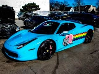 Deadmau5's Cat-Wrapped 458 Italia Pissed off Ferrari