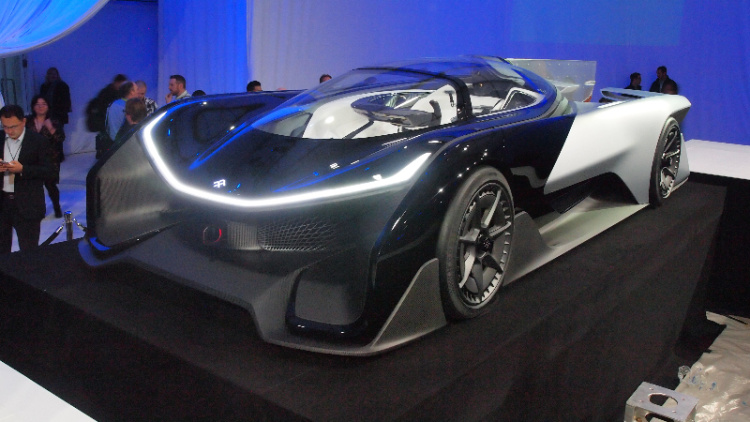 FFZERO1 is Faraday Future's 1,000-hp Hello