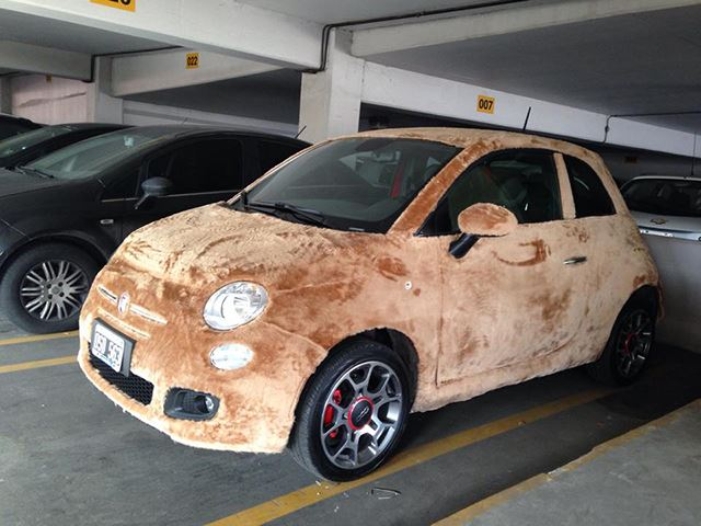 How Many Animals Had to Die to Wrap This Fiat 500 in Fur?
