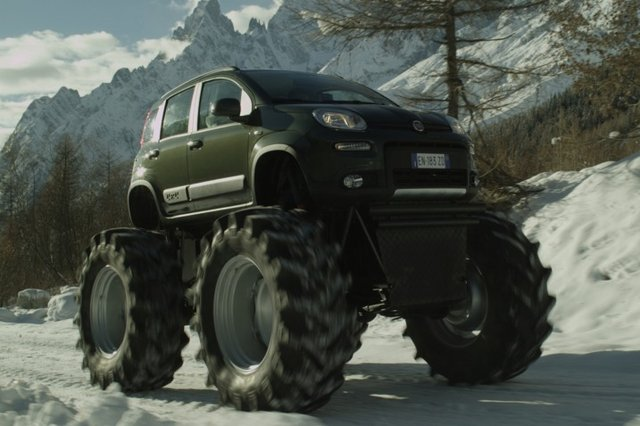 fiat panda monster truck dubbed bigfoot localis. Black Bedroom Furniture Sets. Home Design Ideas