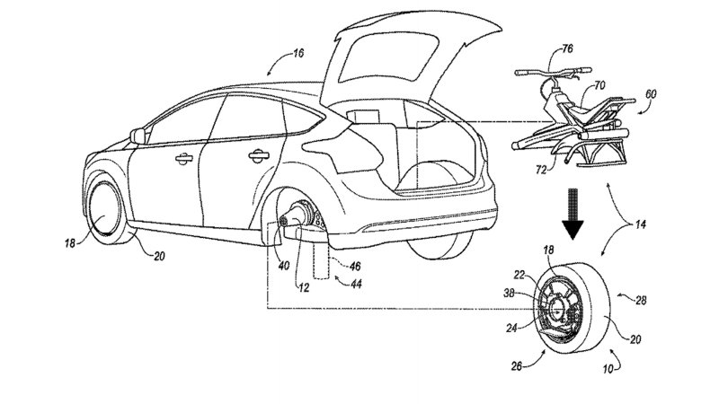 Ford Patents Rear Wheel That Converts into a Unicycle