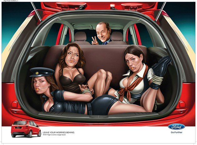 Ford of India in Hot Water for Figo Celebrity Bondage Ads