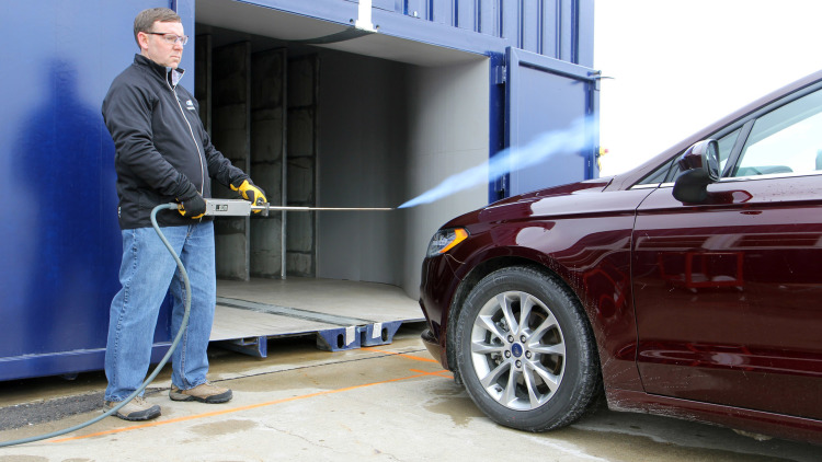 Ford Built A Mobile Wind Tunnel From Shipping Containers