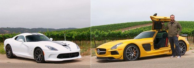 SRT Viper Dukes It Out with Mercedes SLS Black Series in New Head 2 Head