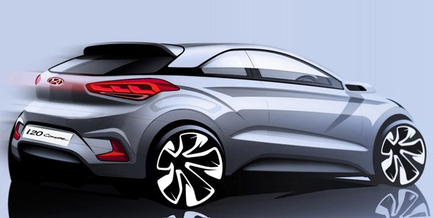 Hyundai i20 Coupe Sketch
