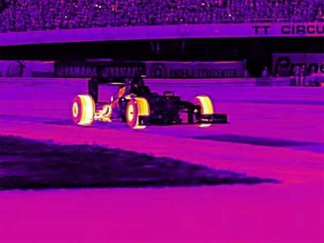 This is What a Tire-Melting Infrared Burnout Looks Like