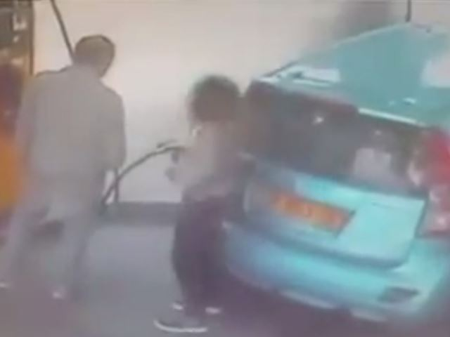 Crazy Woman Starts Gas Station Fire for Even Crazier Reason