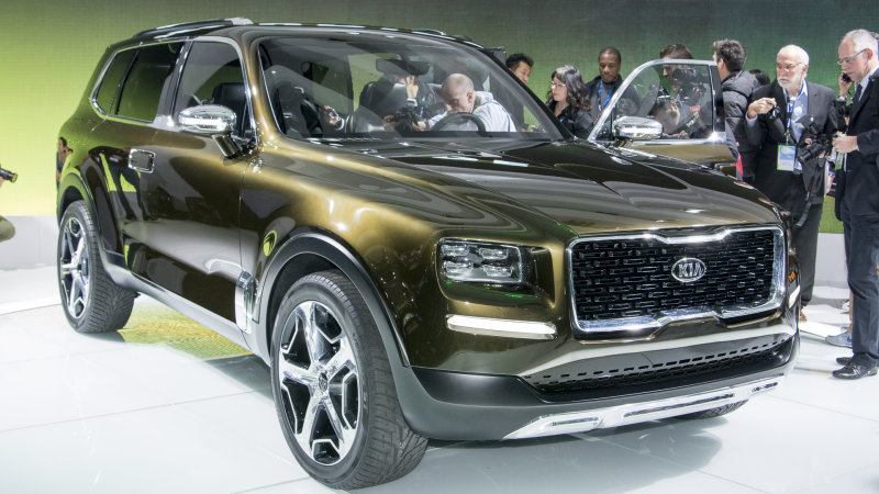 Kia Telluride Concept Is A 400 Hp Hybrid Based On Sorento
