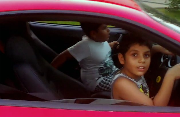 Superior Indian Kids Joyride In Ferrari F430