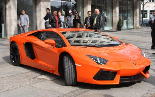 Lamborghini Aventador takes it to the streets