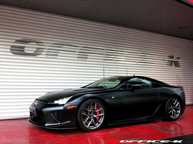 Office-K Wraps LFA in Satin Black, Adds Custom Exhaust