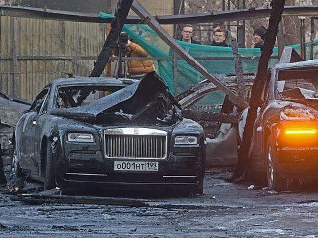 Moscow Man's $3 Million Luxury Car Collection Burns to the Ground in Suspected Arson Attack