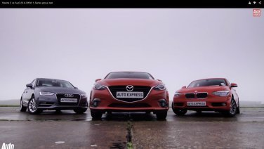 Mazda3 Versus BMW 1 Series and Audi A3 in Euro Diesel Showdown