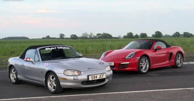 Modded Budget Mazda Miata Takes on New Porsche Boxster in More Challenges