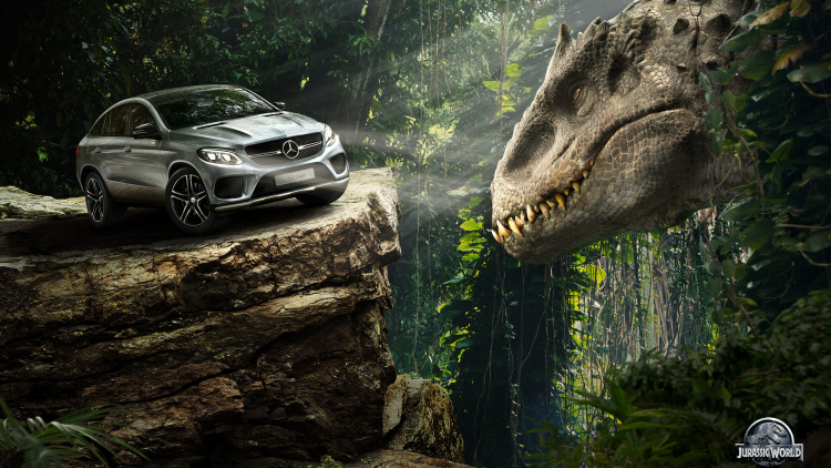 Escape the Dinosaurs in Jurassic World with Mercedes-Benz
