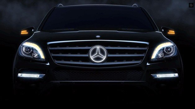 Mercedes Offering Illuminated Three-Pointed Star logo