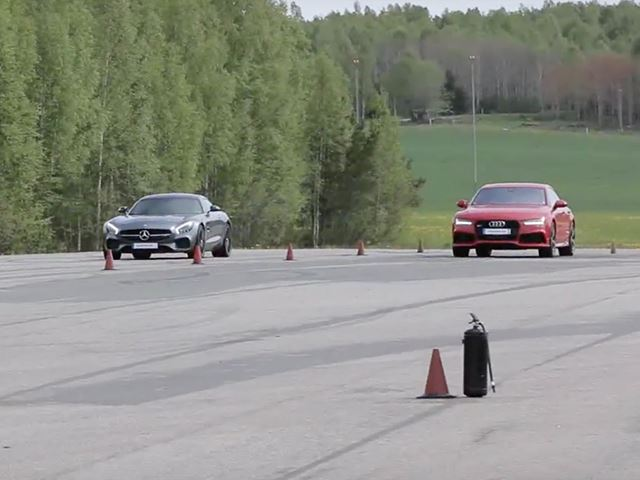 On Paper a Drag Race Between the AMG GT S and Audi RS7 Is Too Close To Call