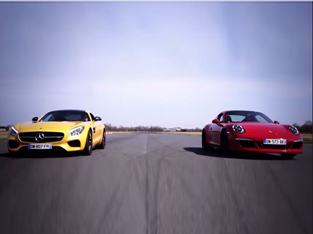 Mercedes-AMG GT S Runs Down 911 GTS In First Drag Race