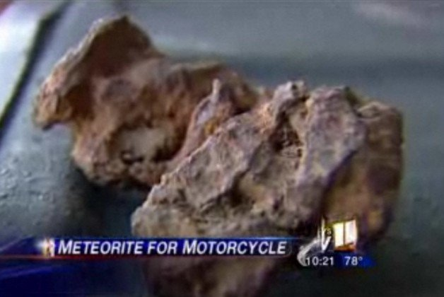 Strangest trade-in ever? Man swaps meteorite for motorcycle