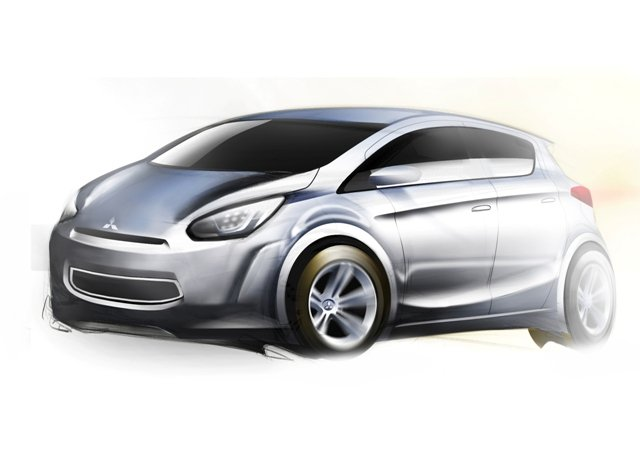 The global small car is based on a new Mitsubishi compact platform in the 1.0-to-1.2-liter class