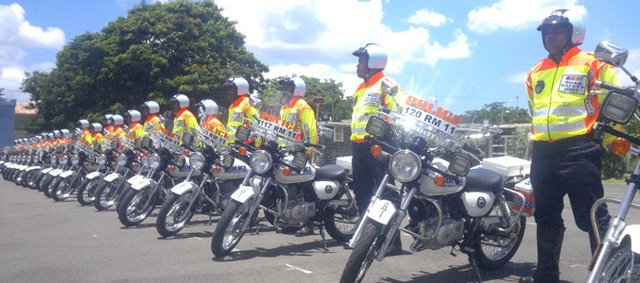 The Motor Cycle Division: The Road Safety Unit Presents its New Team of 30 Riders