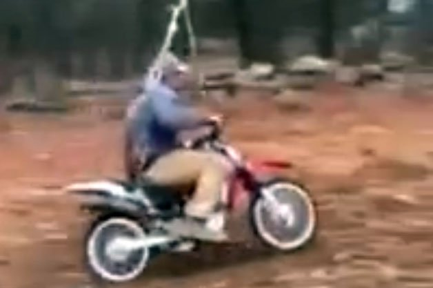 Innovative Dad Creates Dangerously Impressive Motocross Swing