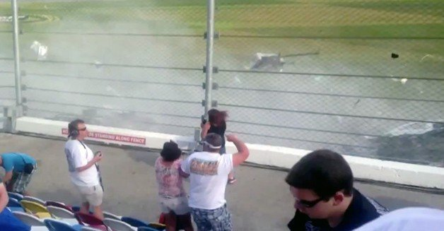 Fan Video from Stands Shows Horror of Daytona Crash