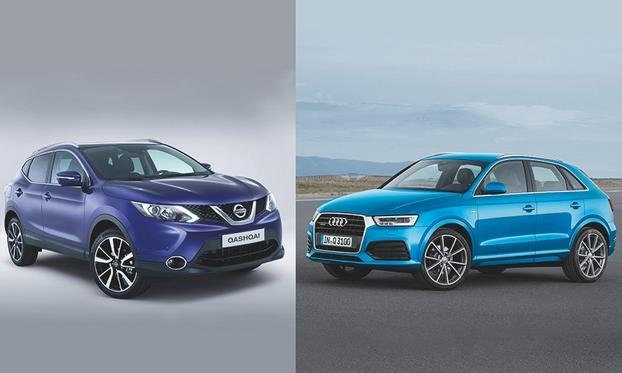 The Nissan Qashqai (left) was Europe's top-selling SUV/crossover last year with a volume