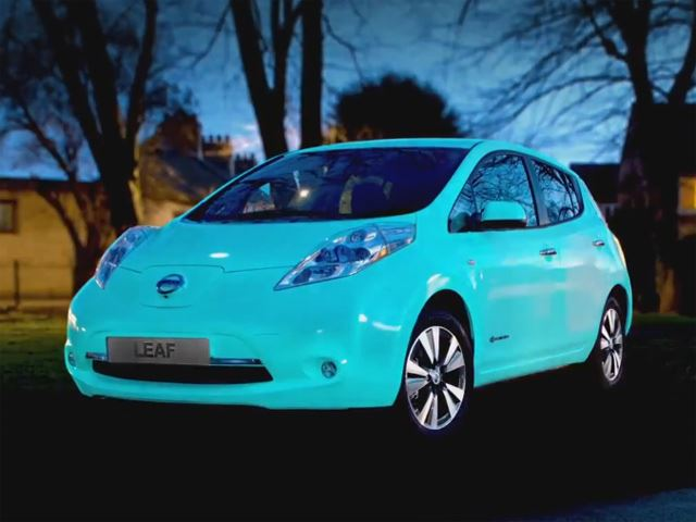 For Some Reason a Glow-In-The-Dark Nissan Leaf Exists