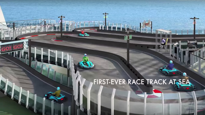This $900M Cruise Ship Might Be The Most Expensive Race Track Ever