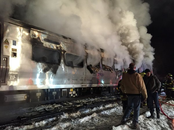 Metro-North train on the railroad's Harlem line crashed into a vehicle on the tracks in Valhalla