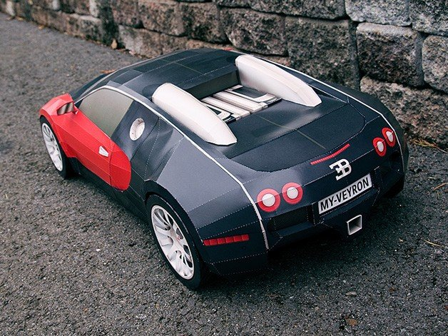 how to make a giant paper bugatti veyron. Black Bedroom Furniture Sets. Home Design Ideas