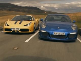 You Can't Resist This: Ferrari 458 Speciale Vs. Porsche 911 GT3