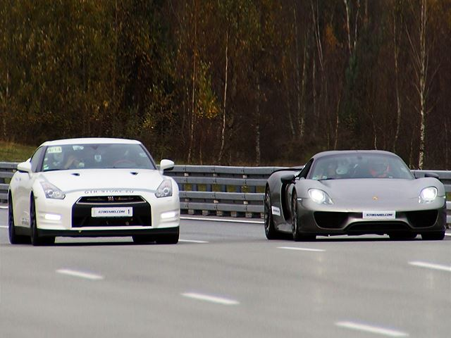 Porsche 918 Spyder Vs. 1200 HP Nissan GT-R in Epic Rolling Race